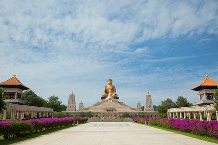 Big Buddha at Fo Guang Shan Buddha in Kaohsiung in Taiwan Stock Photo