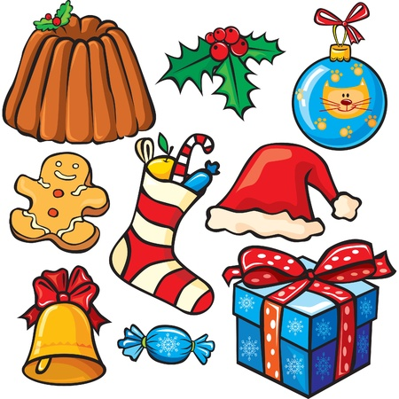 Christmas icon set Stock Vector - 9944078