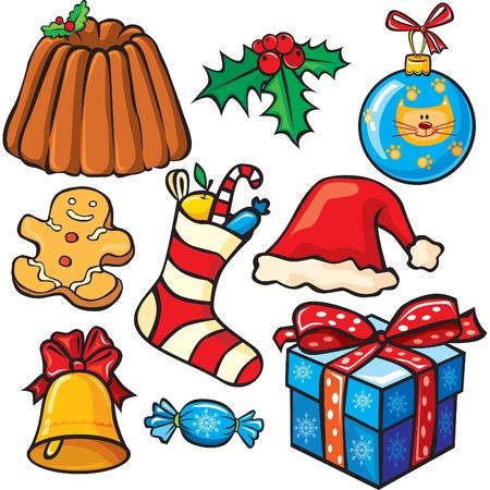 Christmas icon set Stock Vector - 9944078