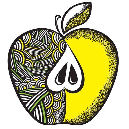 pastiche: Decorative apple Illustration