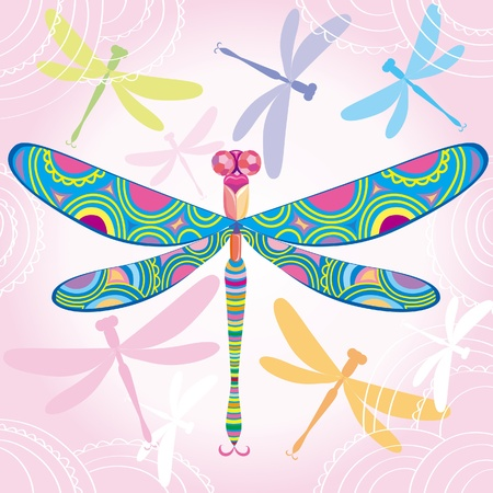 Decorative dragonfly Stock Vector - 10032764