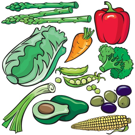 Diet products icon set