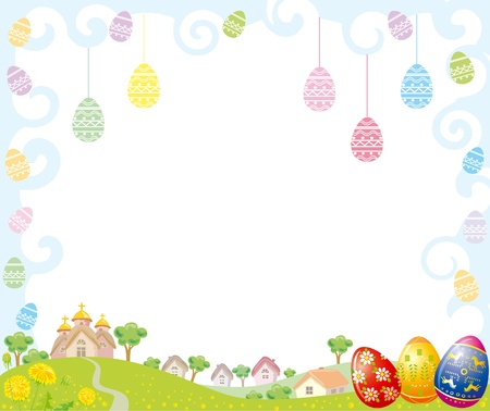 Easter Frame Illustration