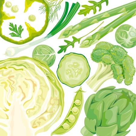 Mix van groene groenten