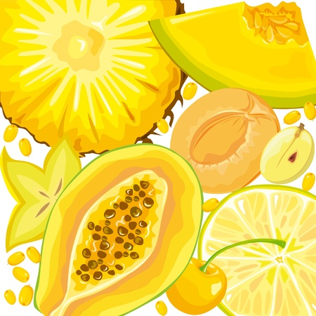 berry fruit: Mix yellow fruits and berries