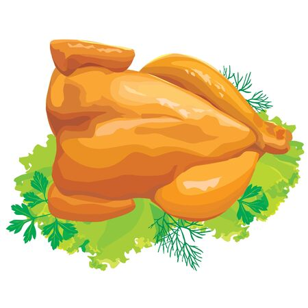roast chicken with herbs Stock Vector - 10032754
