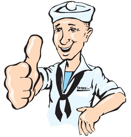 seaman: Sailor show thumb up