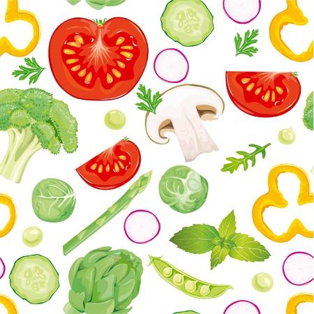 basil herb: Patr�n transparente de verduras