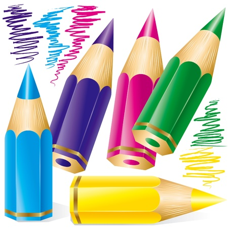 Set of colored pencils Stock Vector - 10032803