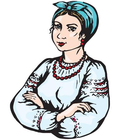 ethnic dress: Donna in abito etnico