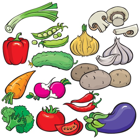 leeks: Vegetables icon set Illustration