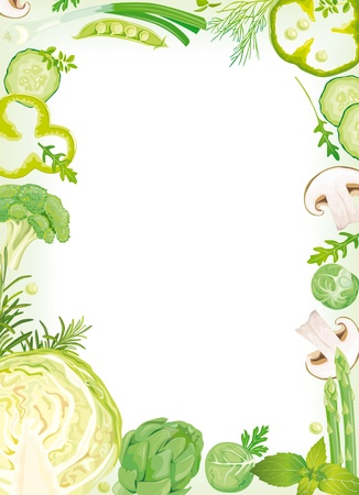 Vegetable Frame Stock Vector - 10673669