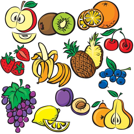 vector fruits icon set Stock Vector - 10673653