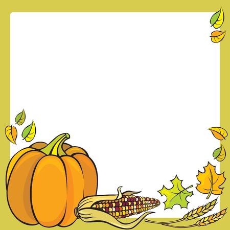 Thanksgiving Frame Stock Vector - 10673666