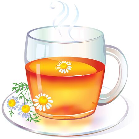 Tea with Chamomile Stock Vector - 10673660