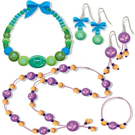 colliers: Colliers et boucles d'oreilles