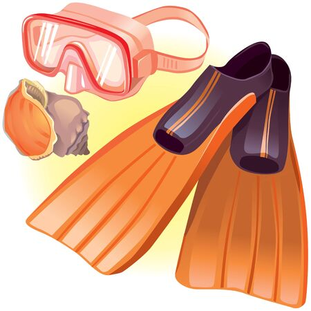 Accessories for diving Stock Vector - 13177390