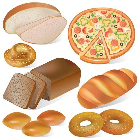 salame: Bread and set padaria
