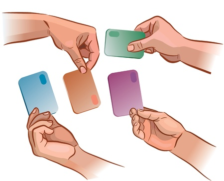 The card in the hand from different angles Stock Vector - 14457516