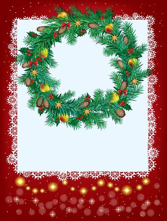 New Year and Christmas greeting card. Contains transparent objects Vector