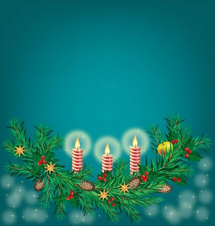Abstract Christmas background.Illustration contains a transparency blends and gradients Vector
