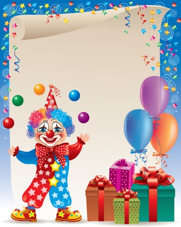 clown shoes: Birthday background