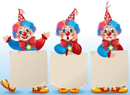 clown cirque: Anniversaire set.Contains objets transparents.