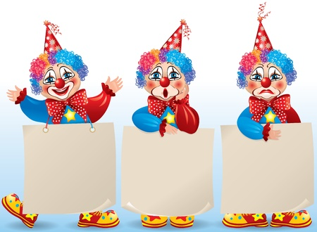 circus clown: Birthday set.Contains transparent objects.