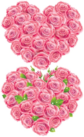 mildew: Heart of roses  Illustration contains transparent object