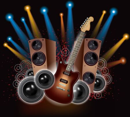 Rock Concert  Contains transparent objects  EPS10 Vector