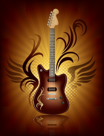 Rock Music   Illustration contains transparent object  Vector