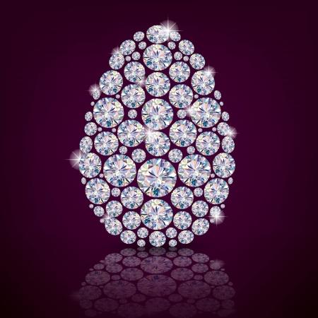polyhedron: Huevo de Pascua diamante contiene objetos transparentes