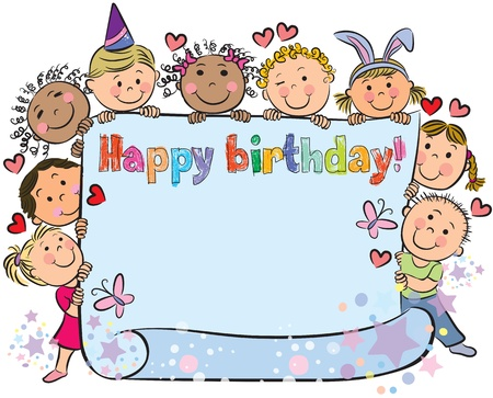 Birthday kids. Contains transparent objects. Stock Vector - 17613860