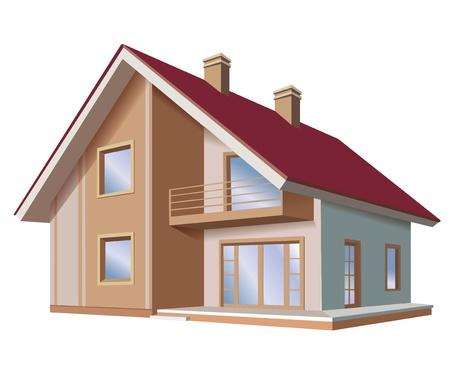 Haus Enthält transparente Objekte Vektorgrafik