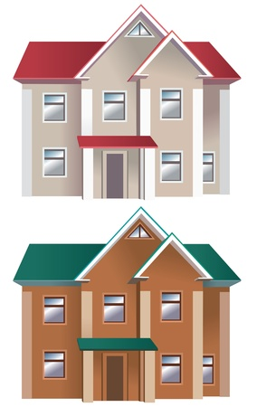 Houses of different colors Contains transparent objects Stock Vector - 17741266