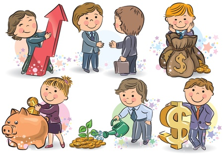 Business kids  Contains transparent objects  EPS10 Vector