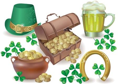 Saint Patricks Day set   Contains transparent objects  EPS10 Illustration