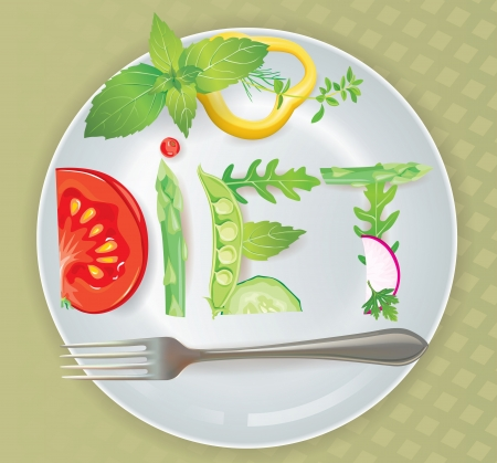 Diet  Contains transparent objects  Stock Vector - 18596298