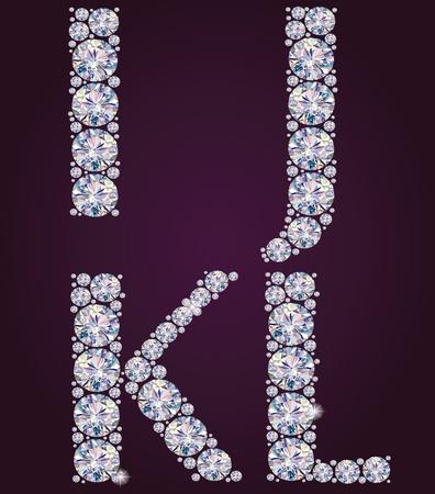 polyhedron: Contiene Alphabet objetos transparentes de diamantes IJKL