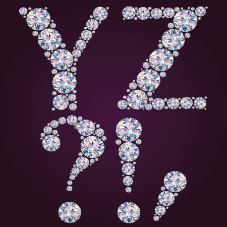 Contains transparent objects  Alphabet of diamonds YZ Vector
