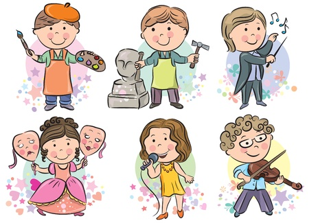 Professions kids set. Contains transparent objects.  Vector