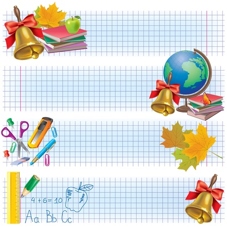 Horizontal school banners. Contains transparent objects. Stock Vector - 21050552