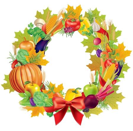 cranberry: Harvest wreath