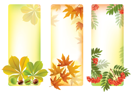 wholesome: Vertical autumn banners.