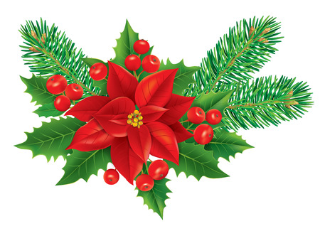 Christmas decoration.  Contains transparent objects. EPS10  Vector