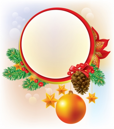 Round Christmas banner. Contains transparent objects. EPS10 Vector