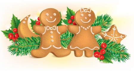biscuit biscuits: Christmas cookies. Contains transparent objects. EPS10 format