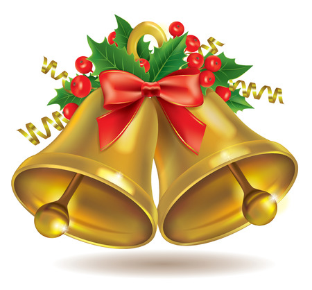 christmas bells: Christmas bells. Contains transparent objects.