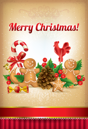Merry Christmas!. Contains transparent objects.  Vector
