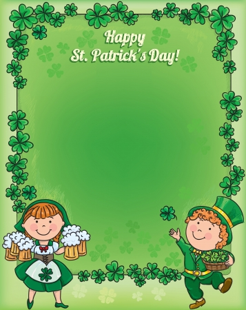 St. Patricks Day frame. Contains transparent objects.  Vector